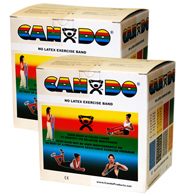 CanDo Latex Free Exercise Bands-100 Yard/Pack