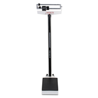 Detecto 338 400 lb/175 kg Capacity Beam Scale w/ Height Rod and Wheels