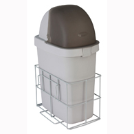 Detecto CARCWB Waste Bin with Accessory Rail for Rescue Cart