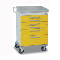 Detecto Whisper Isolation Medical Carts-Yellow