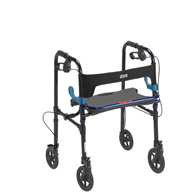 "Drive 10243 Clever Lite Walker Rollator-Adult-8"" Wheels-Flame Blue"