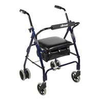 Drive Medical 510 Mimi Lite Push Brake Walker Rollator