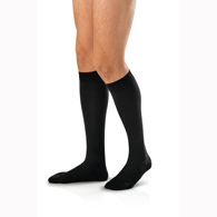 Jobst 115068 For Men Knee High CT Socks-15-20 mmHg-Black-Large Tall